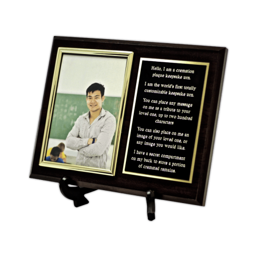 Custom cremation plaque keepsake