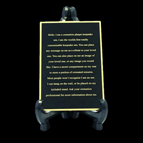 Custom Engraved Memorial Plaque Black