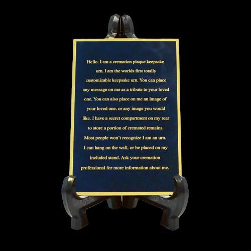 Custom Engraved Memorial Plaque Blue