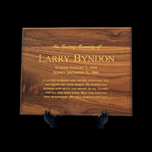 Custom Cremation Plaque Memorial