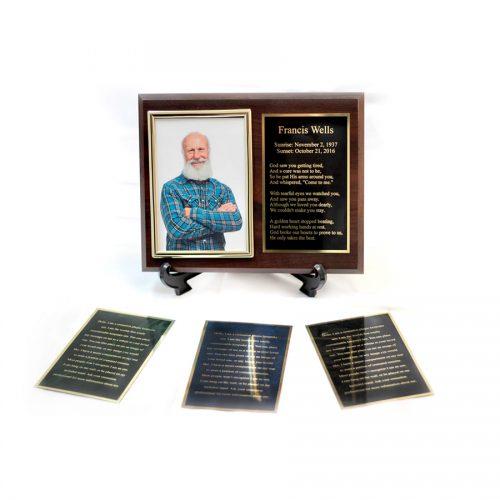 Cremation Plaque Keepsake Urn Example